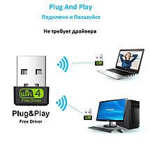 USB-WiFi адаптер 150 Мбит/сек драйвера не требуются (mini), фото 3