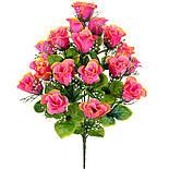 Букет бутоны роз с кашкой, 53см(10 шт в уп), фото 2
