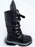 Сапоги молодежные зима из натуральной кожи на платформе от производителя модель ЛИН990-3