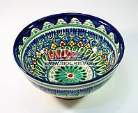 Миска узбекская глубокая 18х8см, ручная роспись (вариант 1)