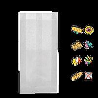 Бумажный пакет без ручек белый 200х100х50мм (ВхШхГ) 40г/м² 100шт (604)