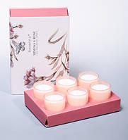 """Набор из 6 свечей аром. """"Мимоза и розы"""" Serenity Candles, Австралия"""