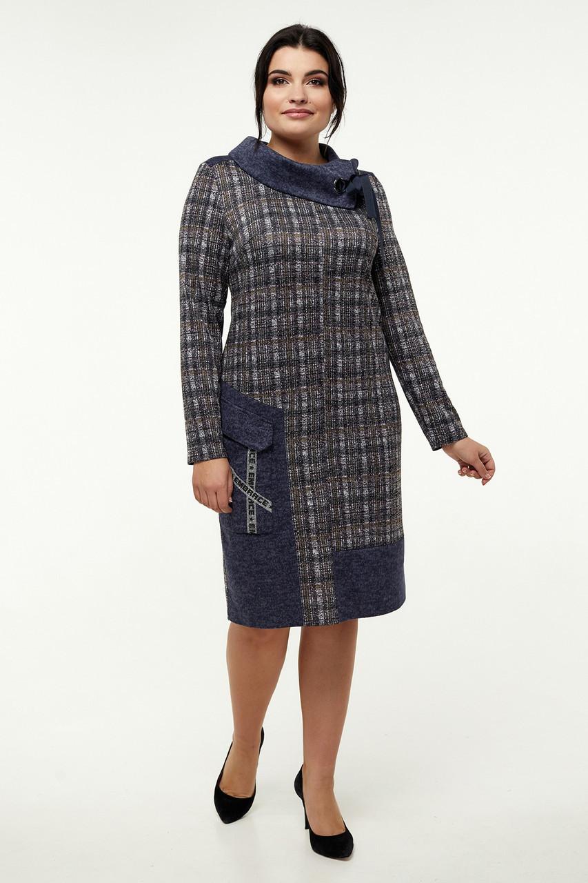 Теплое платье 52-62 размеры