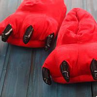 Плюшевые Тапочки Кигуруми Лапы (Red)