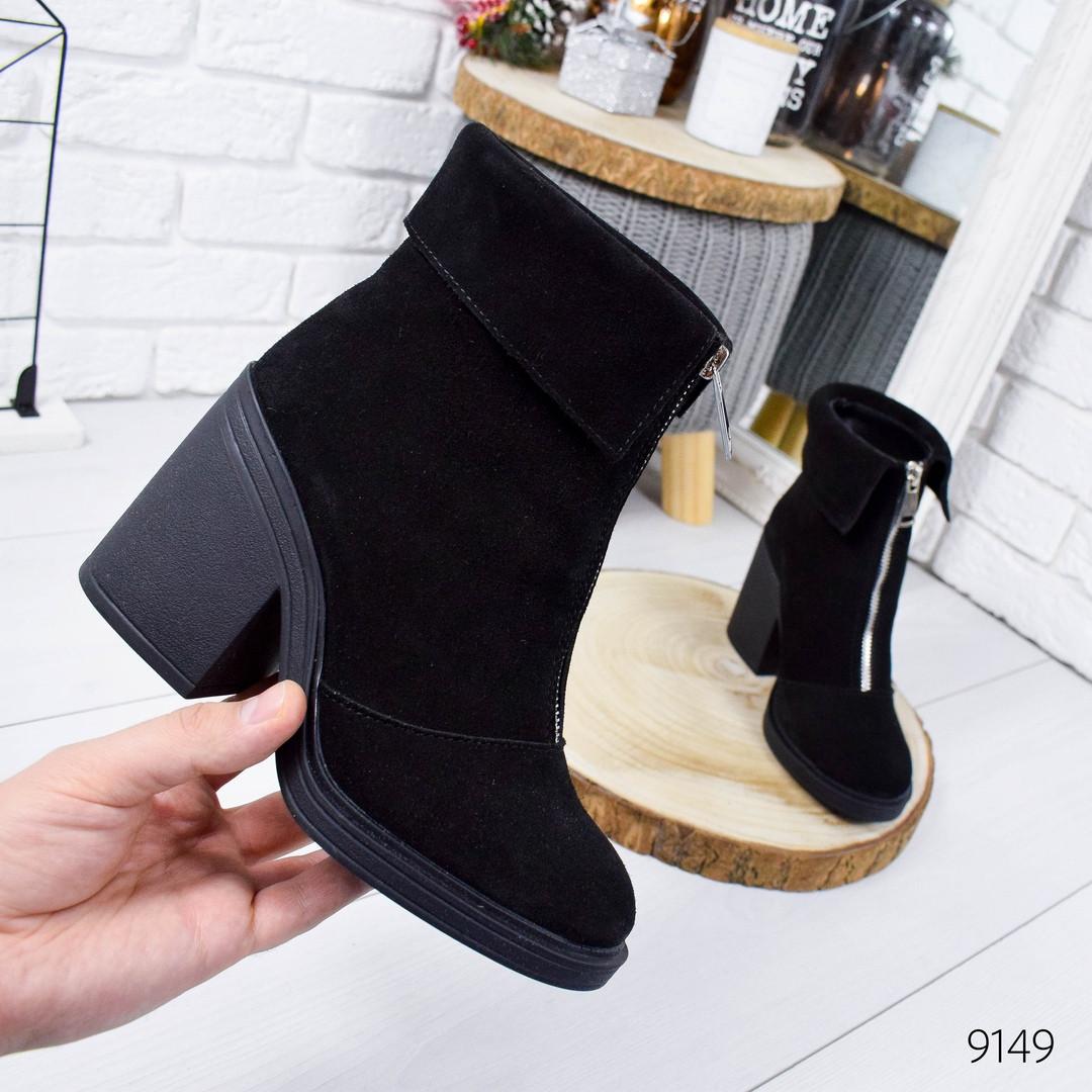 Зимние женские ботинки черного цвета, натуральная замша 37 ПОСЛЕДНИЕ РАЗМЕРЫ