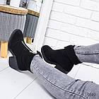 Зимние женские ботинки черного цвета, натуральная замша 37 ПОСЛЕДНИЕ РАЗМЕРЫ, фото 2