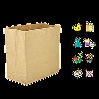 Бумажный пакет без ручек крафтовый с прямоугольным дном 330х160х350мм (ШхГхВ) 70г/м² 100шт (684)
