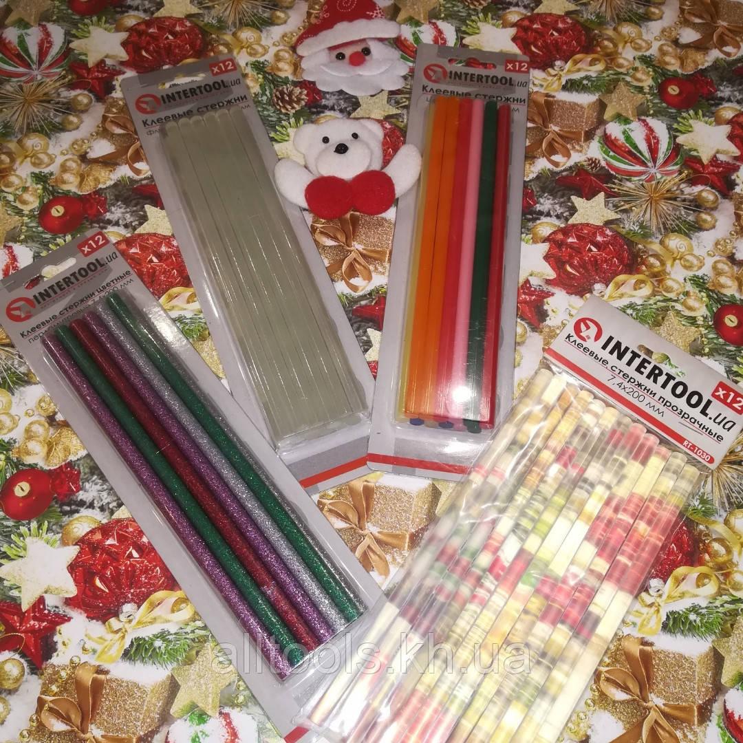 Набір №17 Клейові стрижні d 7.4 mm L 200 mm - 4 упаковки Intertool
