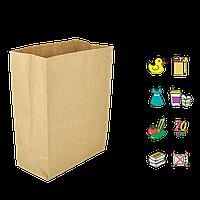 Бумажный пакет без ручек крафтовый с прямоугольным дном 280х140х420мм (ШхГхВ) 70г/м² 100шт (685)