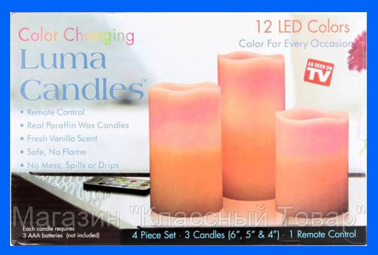 Набор светодиодных свечей Luma Candles 12 цветов! Лучший подарок