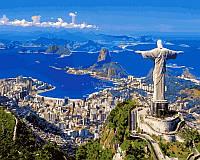 Картина по номерам на холсте 40х50см Рио-де-Жанейро