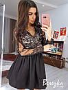 Нарядное платье с пышной юбкой и кружевным верхом 66plt666Q, фото 2