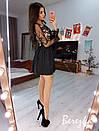 Нарядное платье с пышной юбкой и кружевным верхом 66plt666Q, фото 3