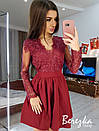 Нарядное платье с пышной юбкой и кружевным верхом 66plt666Q, фото 4