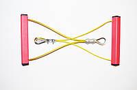 Эспандер металлический универсальный для фитнеса и спорта (Металлическая конструкция) + 2 подарка