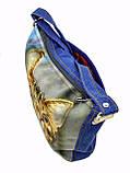 Джинсовая сумка ПОЛОСАТИК, фото 3