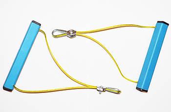 Эспандер металлический универсальный для фитнеса и спорта + 2 подарка (Металлическая конструкция)