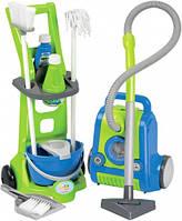 Тележка для уборки и пылесос (10 аксессуаров), игровой набор, Ecoiffier, осн. (001770-1)