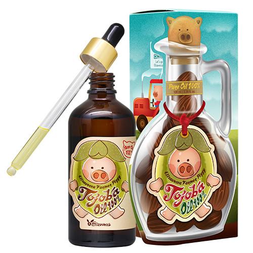 Масло жожоба для обличчя і тіла Elizavecca Farmer Piggy Jojoba Oil 100%, 100 мл