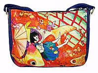 Джинсовая сумка АНИМЭ, фото 1