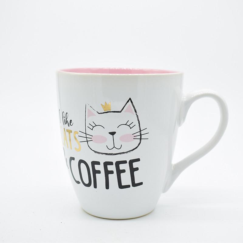 """Чашка """"I love cats & coffee""""  550мл 11,5*10см"""