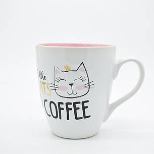 """Чашка """"I love cats & coffee""""  550мл 11,5*10см, фото 2"""