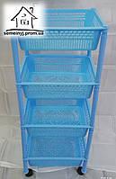 Этажерка пластиковая на колесиках