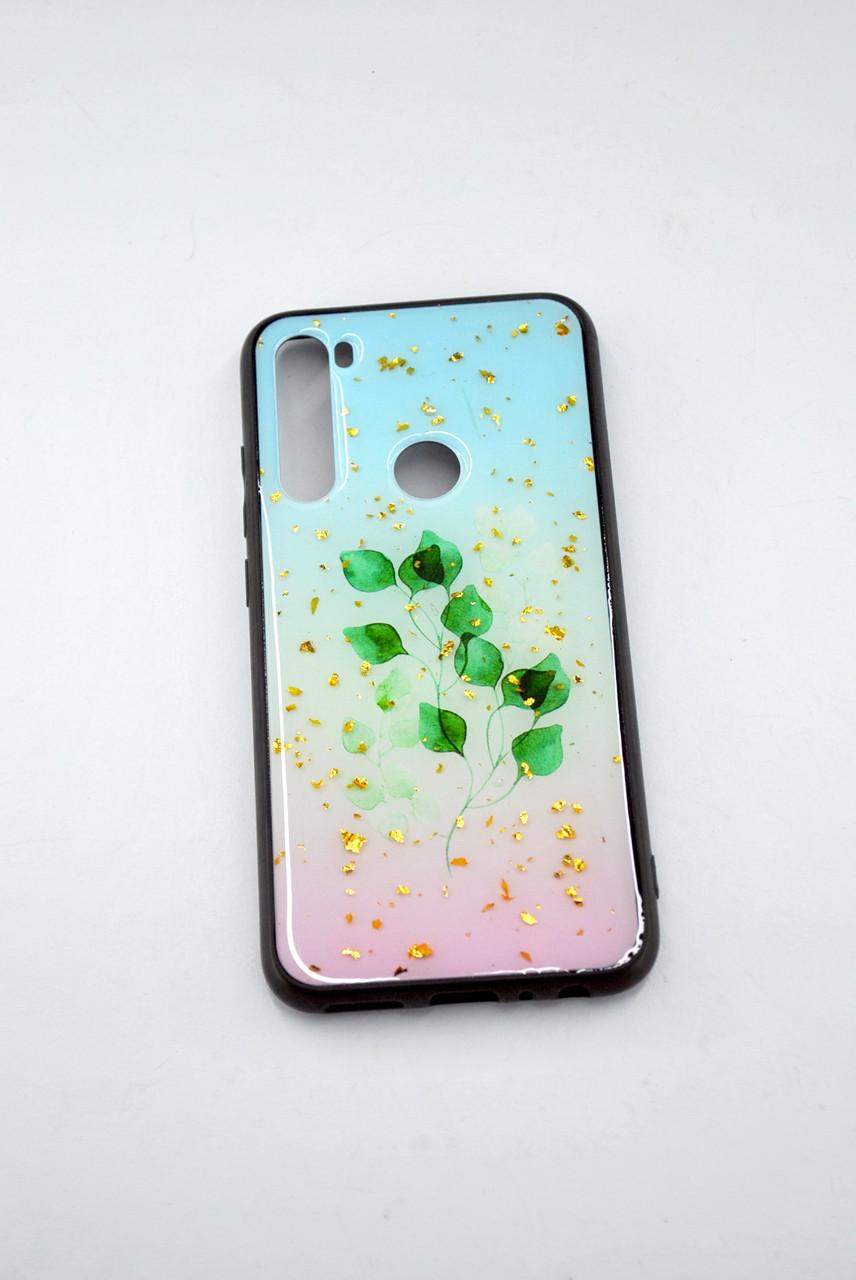 Чехол Xiaomi Redmi 8A Silicone Glass Glitter Spring D4