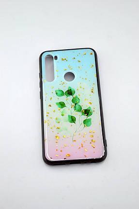 Чехол Xiaomi Redmi 8A Silicone Glass Glitter Spring D4, фото 2