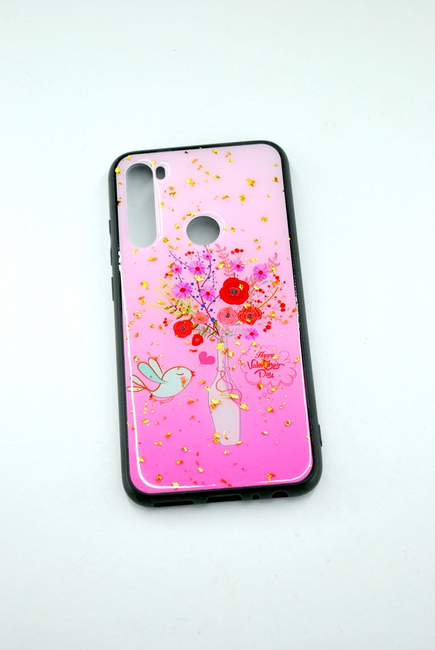 Чехол Xiaomi Redmi 8A Silicone Glass Glitter Spring D8