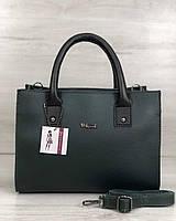 Молодежная женская сумка Ханна зеленого цвета, фото 1