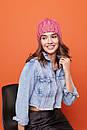 Женская теплая шапка крупной вязки с флисом внутри 61gol224, фото 2