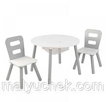 Детская мебель стол белый и 2 стула Kidkraft 26166