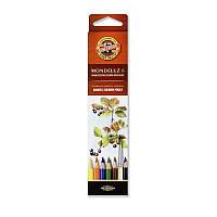 Карандаши цветные акварельные 6 цветов K-i-N Mondeluz 3715
