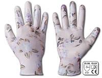 Перчатки рабочие NITROX FLOWERS нитрил, размер 7