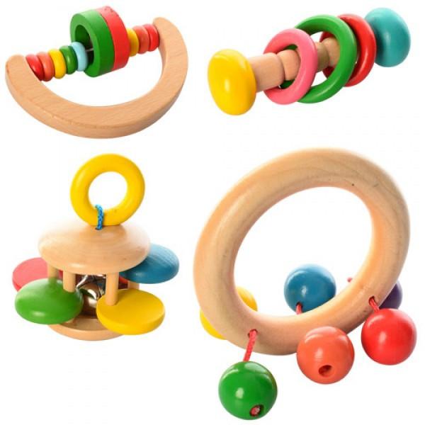 Деревянная игрушка Погремушка