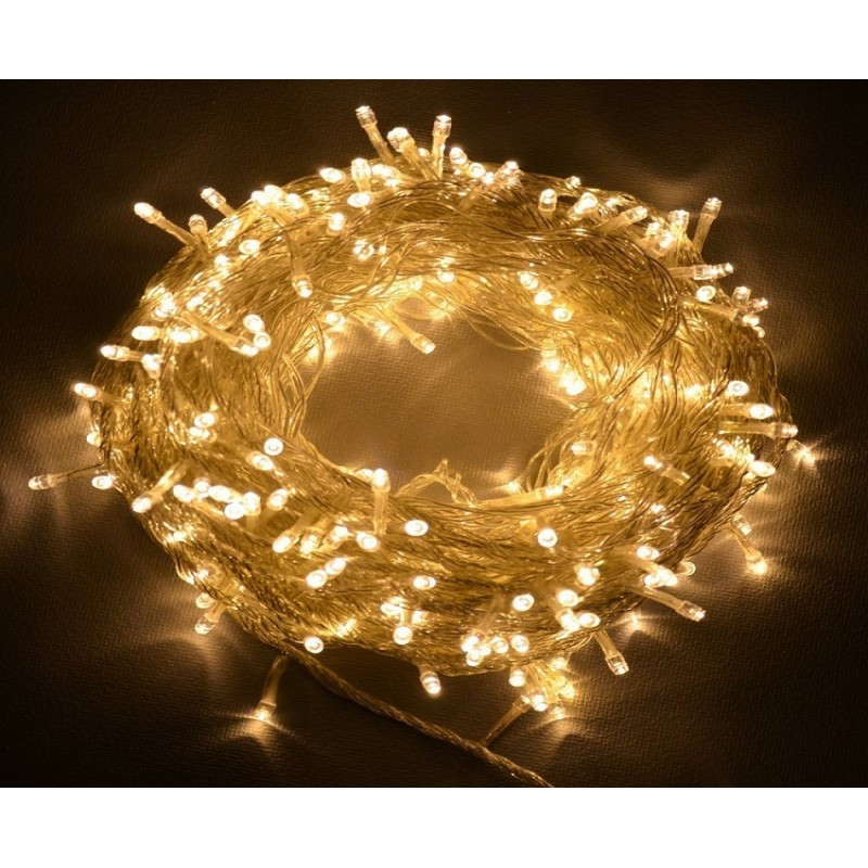 """[ОПТ] Уличная светодиодная новогодняя гирлянда """"Нить"""" (String) на ПВХ проводе 100LED на 9 м (3 цвета)"""
