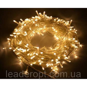 """[ОПТ] Вулична новорічна світлодіодна гірлянда """"Нитка"""" (String) на ПВХ проводі 100LED на 9 м (3 кольори)"""