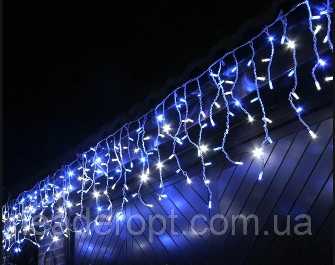 """[ОПТ] Уличная светодиодная новогодняя гирлянда Icicle """"Бахрома"""" с мерцанием 100LED, 3 метра."""