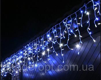 """[ОПТ] Вулична новорічна світлодіодна гірлянда є icicle """"Бахрома"""" з мерехтінням 100LED, 3 метри."""