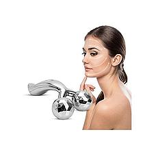 Массажер роликовый 3D для всего тела и лица серебристый, фото 3