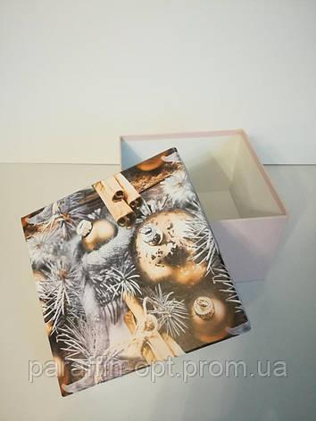 Подарочная коробка квадратная новогодняя, фото 2