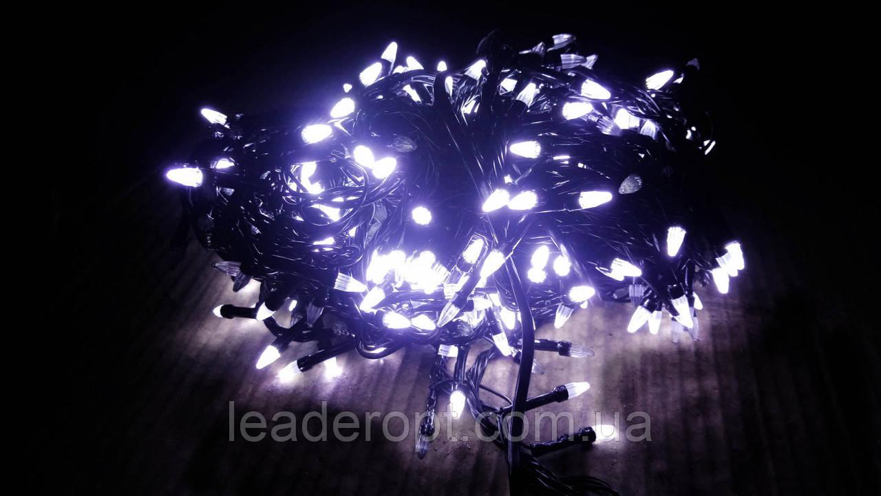 """[ОПТ] Уличная светодиодная новогодняя гирлянда """"Нить""""(String) на черном(белом) проводе 100LED на 10м (3 цвета)"""