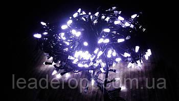"""[ОПТ] Вулична новорічна світлодіодна гірлянда """"Нитка""""(String) на чорному(білому) проводі 100LED на 10м (3"""