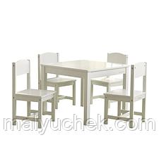 Детская мебель стол белый и 4 стула Kidkraft 21455