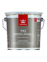 Щелочестойкая акрилатная краска Tikkurila YKI Sokkelimaali ( все фасовки ) Белый, 2.7л