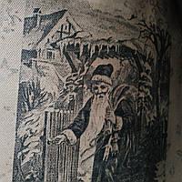 Эко сумка  хозяйственная с замочком  надпись серая(спанбонд), фото 1