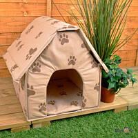 Домик для собак и кошек Portable Dog House будка. Розовый (SM00692)