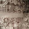 Эко сумка  хозяйственная с замочком  бордо цветки столбцы(спанбонд)