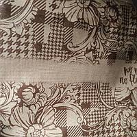 Эко сумка  хозяйственная с замочком  бордо цветки столбцы(спанбонд), фото 1